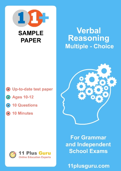 Verbal Reasoning Multiple Choice