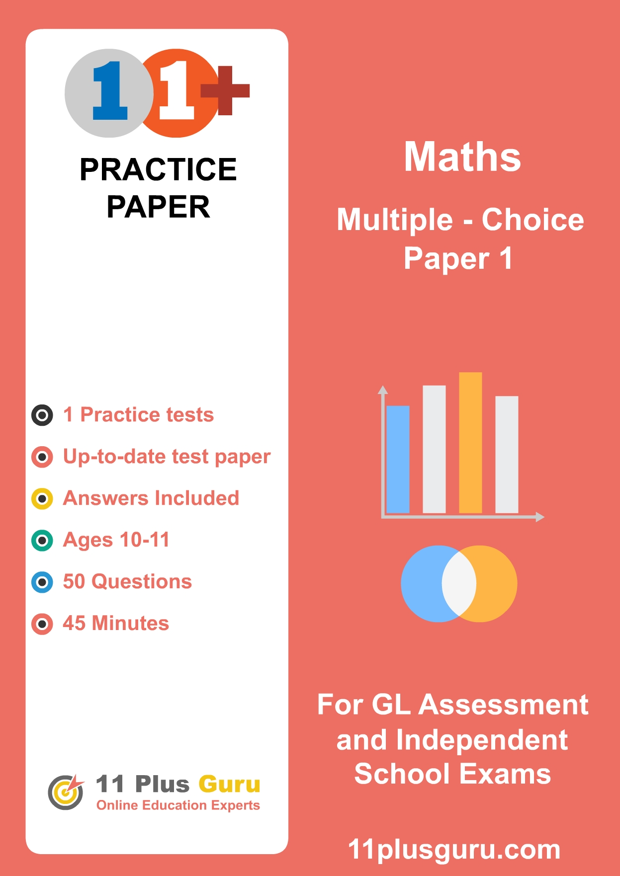 11+ Maths Multiple-Choice Practice Test  Paper 1