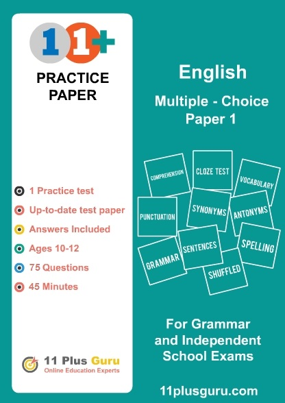 11+ English Multiple-Choice Practice Test  Paper 1